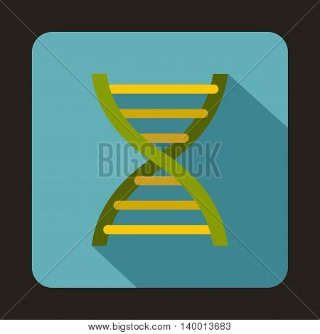 DNA icon in flat style on a baby blue background
