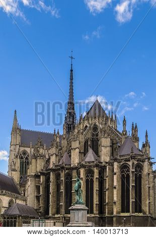 Amiens Cathedral is a Roman Catholic cathedral. The cathedral was built between 1220 and c.1270 and has been listed as a UNESCO World Heritage Site since 1981 France