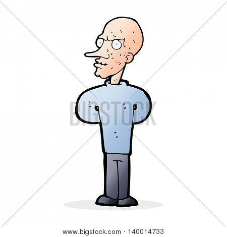 cartoon evil bald man