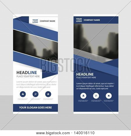 Purple triangle Business Roll Up Banner flat design template Abstract Geometric banner template Vector illustration set abstract presentation brochure flyer template vertical template vector