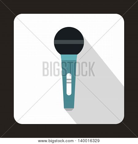 Wireless microphone icon in flat style on a white background
