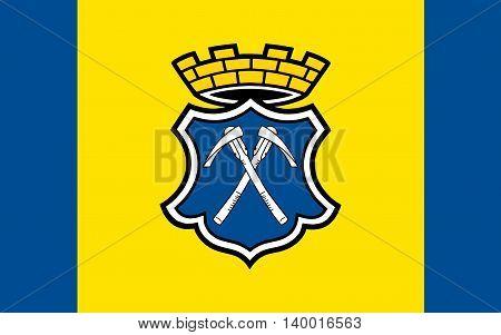 Flag of Bad Homburg vor der Hoehe is the district town of the Hochtaunuskreis Hesse Germany.