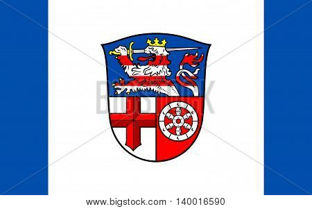 Flag of Heppenheim is the seat of Bergstrasse district in Hesse Germany.