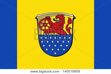 Flag of Darmstadt-Dieburg is a district in the south of Hesse Germany