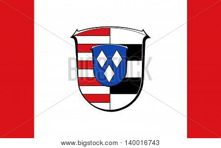 Flag of Gross-Gerau is a district in the south of Hesse Germany.