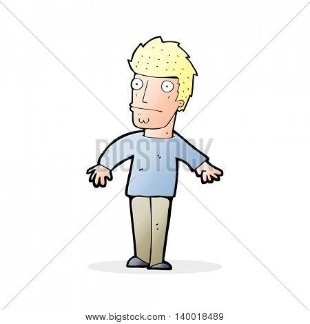 cartoon worried man