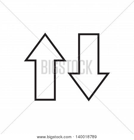 Line arrows up and down. Vector illustration.
