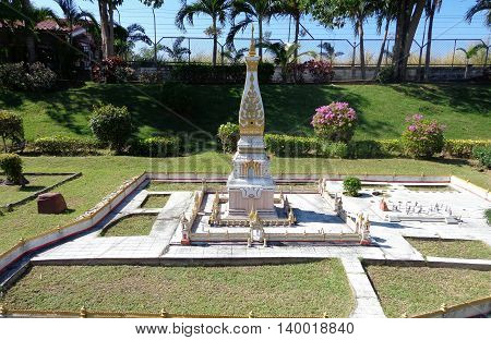 PATTAYA THAILAND Mini Siam is a famous miniature park attraction.