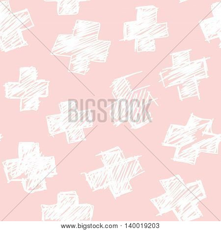 Seamless hand drawn irregular uneven black and white texture, vector illustration