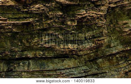 texture of the rock limestone mountain gorge