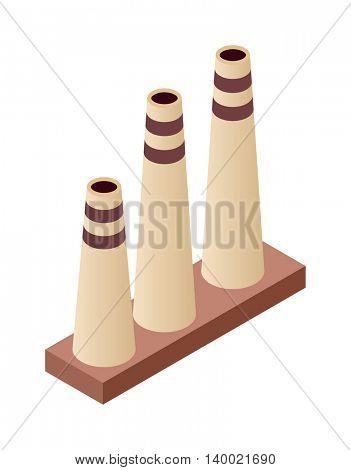 Isometric tube factory vector illustration