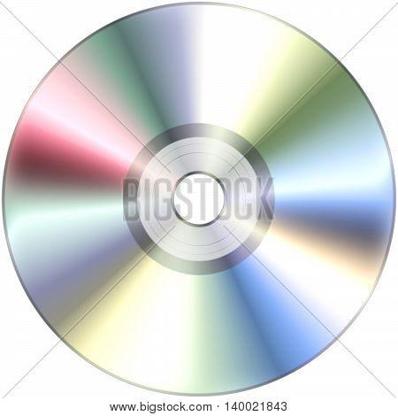 CD disk isolated on White 3D illustration