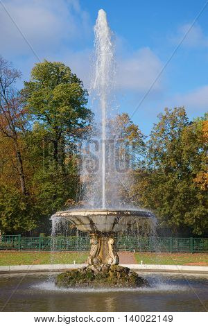 SAINT PETERSBURG, RUSSIA - OCTOBER 05, 2015: Fountain