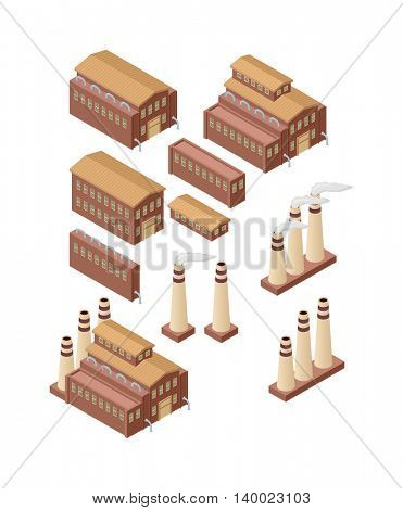 Factory buildings vector illustration