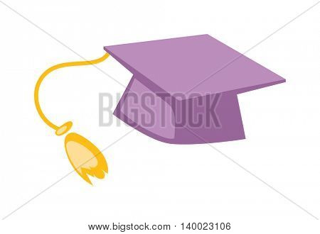 Graduation hat isolated