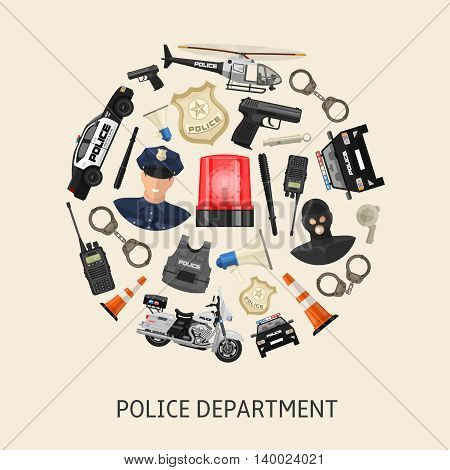 Round police composition