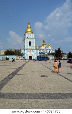 St Michaels golden domed monastery.July 26, 2016 Kiev, Ukraine