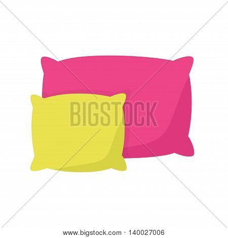 colored pillow cushion vector illustration on a white background.
