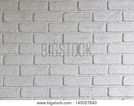texture of the wall of white brick