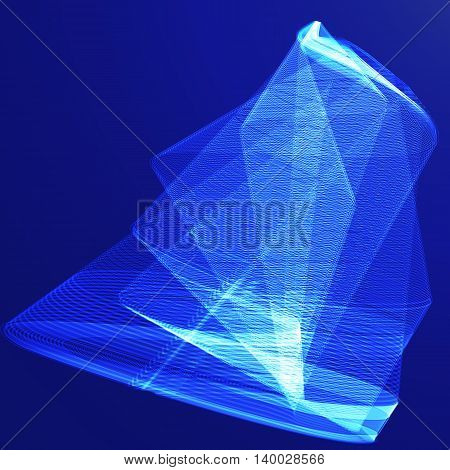 Abstract blue vector background, illustration design, color