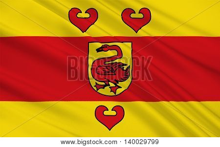 Flag of Steinfurt is a district in the northern part of North Rhine-Westphalia Germany. 3d illustration