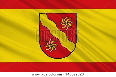 Flag of Warendorf is a district in the northern part of North Rhine-Westphalia Germany. 3d illustration