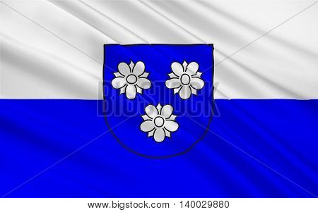 Flag of Viersen is the capital of the district of Viersen in North Rhine-Westphalia Germany. 3d illustration
