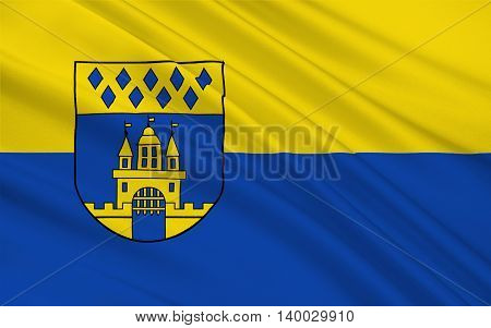 Flag of Steinfurt is a town in North Rhine-Westphalia Germany. 3d illustration