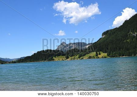 beautiful lake and mountains in the Alps, Austria