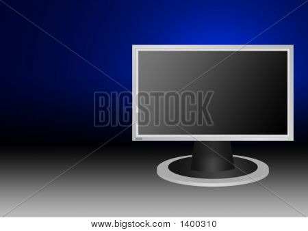 Lcd Monitor 16X9 Style  Background