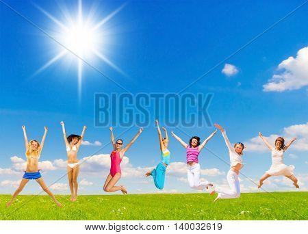 on a Meadow Joyful Celebrating