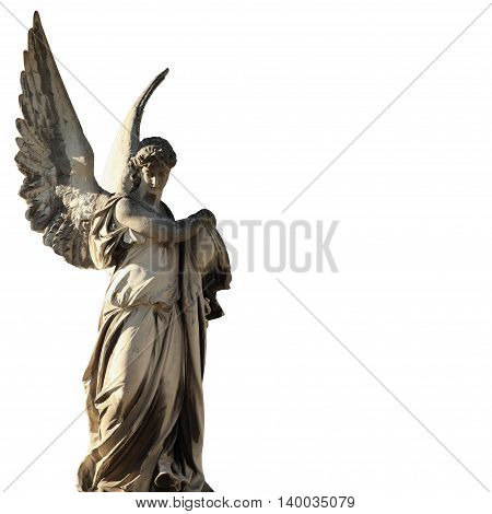 angel of death as a symbol of the end of life (Lychakivs cemeteries Lviv Ukraine)