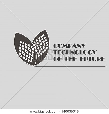 Company technology of the future Vector illustration of logo for the company's future, or creative design