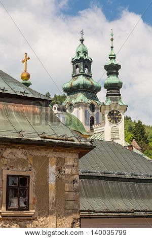 View Over Rooftops Of The City Banska Stiavnica