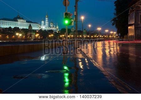 Sofiiskaya Naberezhnaya And Views Of The Moscow Kremlin