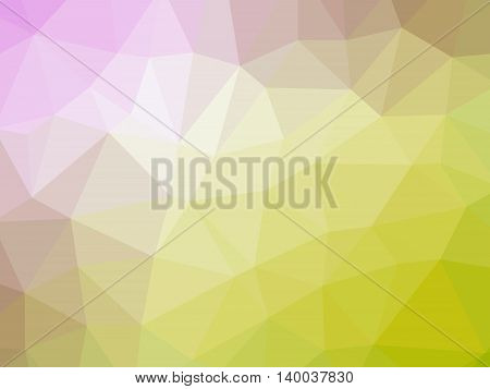 Abstract yellow pink gradient polygon shaped background.