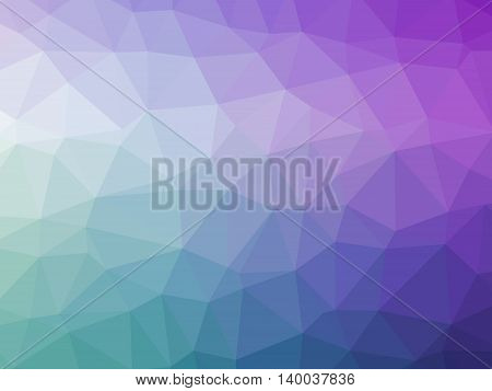 Abstract purple green teal gradient polygon shaped background.