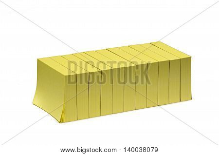 photography in the studio several yellow small blocks with adhesive