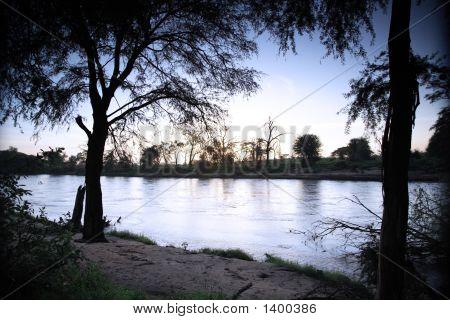Early Morning Over Uaso Nyiro River