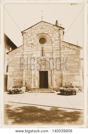 church in Maderno, town on Garda lake in Italy