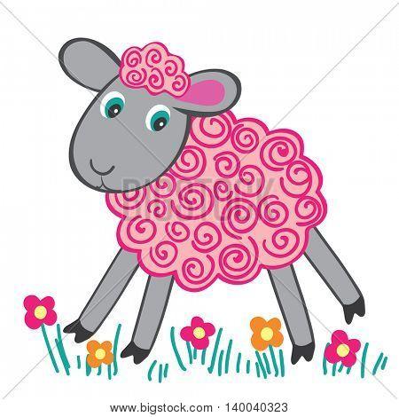 Lamb. Children's drawing.