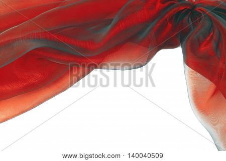 organza red fabric texture border frame background