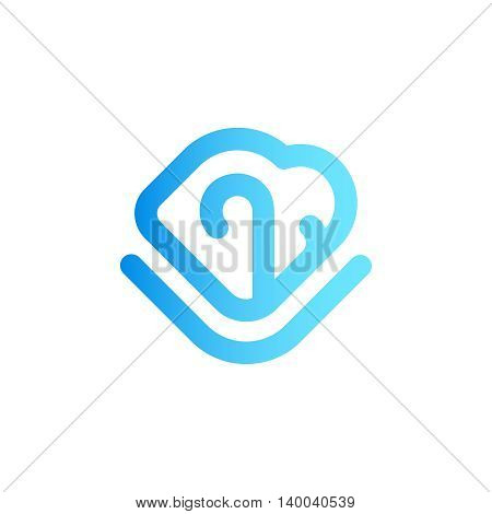 B2B logo vector design concept isolated on white background. Modern corporate identity for business marketing company. Abstract web icon in mono line style with letter B and number two