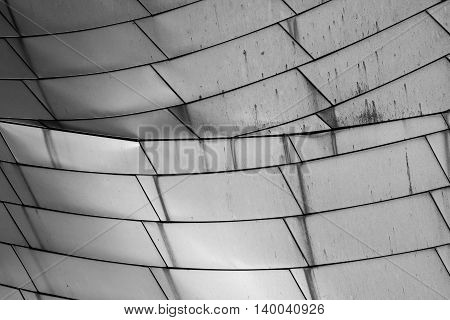 Water Stains on Aluminum abstract bridge detail