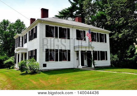 Concord Massachusetts - July 9 2013: Historic home of American writer Ralph Waldo Emerson where he resided from 1835-1882