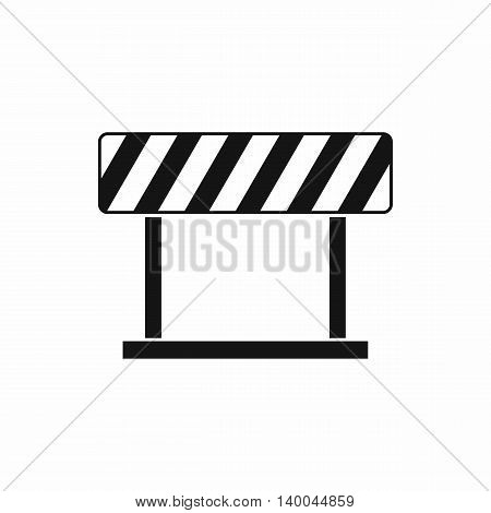 Traffic prohibition sign icon in simple style isolated on white background. Warning symbol