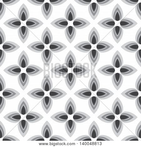 Abstract flower monochrome seamless pattern. Can be used for web print and book design home decor fashion textile wallpaper.