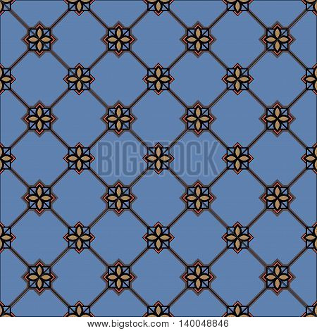 Medieval book miniature seamless pattern. Can be used for web print and book design home decor fashion textile wallpaper. vector