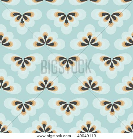 Tender blue seamless pattern. Can be used for web print and book design home decor fashion textile wallpaper.
