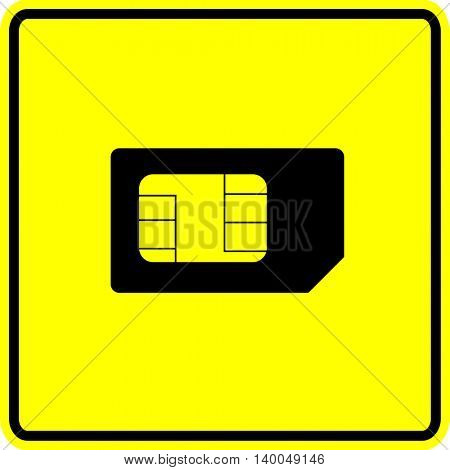 mini sim card sign